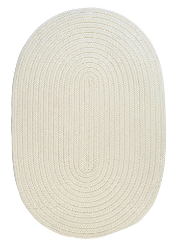Boca Raton Indoor Outdoor Oval Braided Rug, BR10 White