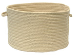Boca Raton Indoor Outdoor Round Braided Basket, BR12 Linen