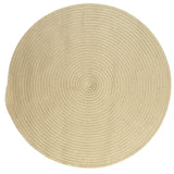 Boca Raton Indoor Outdoor Round Braided Rug, BR12 Linen