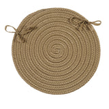 Boca Raton Indoor Outdoor Round Braided Chair Pad, BR13 Cafe Tostado