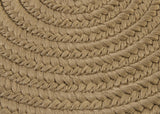 Boca Raton Indoor Outdoor Oval Braided Rug, BR13 Cafe Tostado