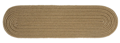 Boca Raton Indoor Outdoor Oval Braided Stair Tread, BR13 Cafe Tostado