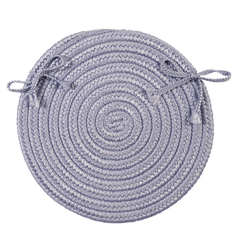 Boca Raton Indoor Outdoor Round Braided Chair Pad, BR23 Amethyst