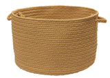 Boca Raton Indoor Outdoor Round Braided Basket, BR32 Topaz