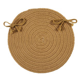 Boca Raton Indoor Outdoor Round Braided Chair Pad, BR32 Topaz