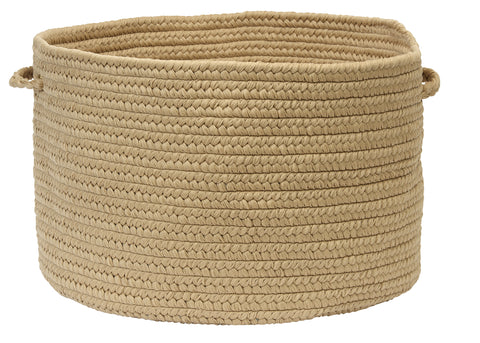 Boca Raton Indoor Outdoor Round Braided Basket, BR33 Cuban Sand