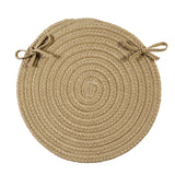 Boca Raton Indoor Outdoor Round Braided Chair Pad, BR33 Cuban Sand