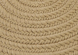 Boca Raton Indoor Outdoor Round Braided Rug, BR33 Cuban Sand