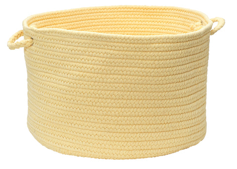 Boca Raton Indoor Outdoor Round Braided Basket, BR34 Pale Banana