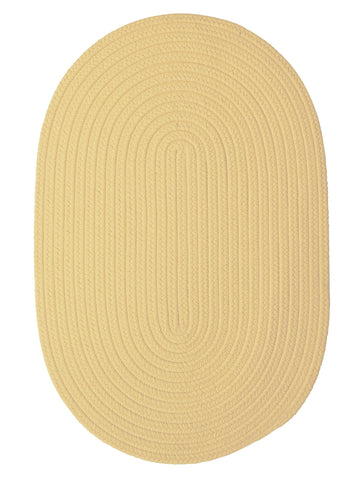 Boca Raton Indoor Outdoor Oval Braided Rug, BR34 Pale Banana
