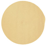 Boca Raton Indoor Outdoor Round Braided Rug, BR34 Pale Banana
