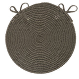 Boca Raton Indoor Outdoor Round Braided Chair Pad, BR41 Gray