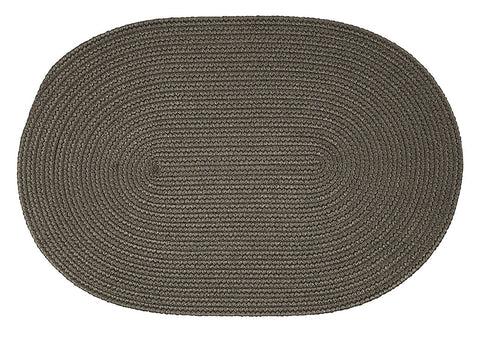 Boca Raton Indoor Outdoor Oval Braided Rug, BR41 Gray