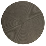 Boca Raton Indoor Outdoor Round Braided Rug, BR41 Gray