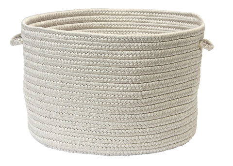 Boca Raton Indoor Outdoor Round Braided Basket, BR43 Shadow