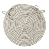 Boca Raton Indoor Outdoor Round Braided Chair Pad, BR43 Shadow