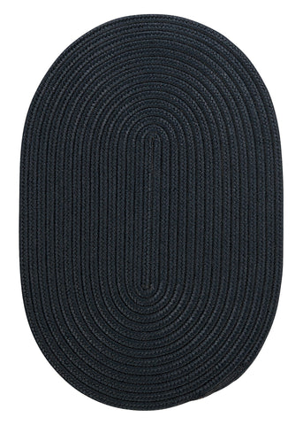 Boca Raton Indoor Outdoor Oval Braided Rug, BR52 Navy