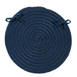 Boca Raton Indoor Outdoor Round Braided Chair Pad, BR53 Jasmine