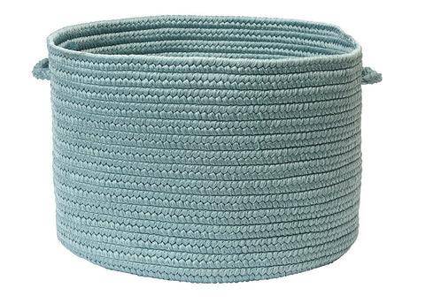 Boca Raton Indoor Outdoor Round Braided Basket, BR54 Federal Blue