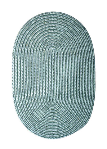 Boca Raton Indoor Outdoor Oval Braided Rug, BR54 Federal Blue