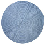 Boca Raton Indoor Outdoor Round Braided Rug, BR55 Blue Ice