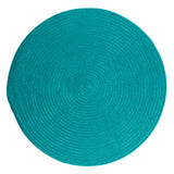 Boca Raton Indoor Outdoor Round Braided Rug, BR56 Turquoise