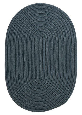 Boca Raton Indoor Outdoor Oval Braided Rug, BR57 Lake Blue