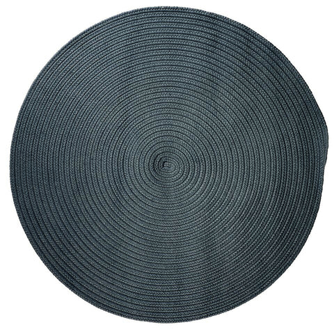 Boca Raton Indoor Outdoor Round Braided Rug, BR57 Lake Blue