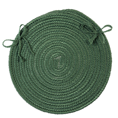 Boca Raton Indoor Outdoor Round Braided Chair Pad, BR62 Myrtle Green