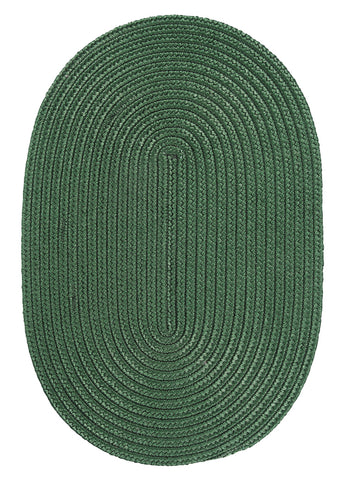 Boca Raton Indoor Outdoor Oval Braided Rug, BR62 Myrtle Green