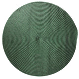 Boca Raton Indoor Outdoor Round Braided Rug, BR62 Myrtle Green