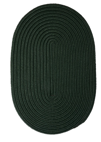 Boca Raton Indoor Outdoor Oval Braided Rug, BR64 Dark Green