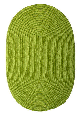 Boca Raton Indoor Outdoor Oval Braided Rug, BR65 Bright Green