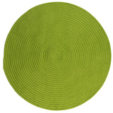 Boca Raton Indoor Outdoor Round Braided Rug, BR65 Bright Green