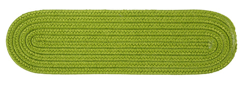 Boca Raton Indoor Outdoor Oval Braided Stair Tread, BR65 Bright Green