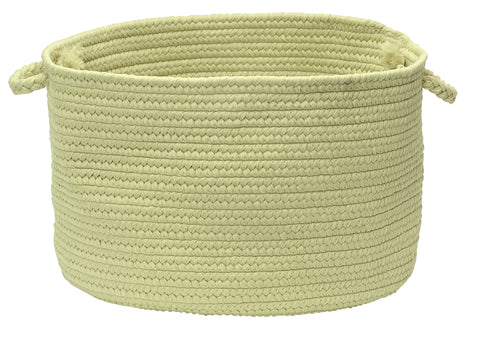 Boca Raton Indoor Outdoor Round Braided Basket, BR66 Celery Green