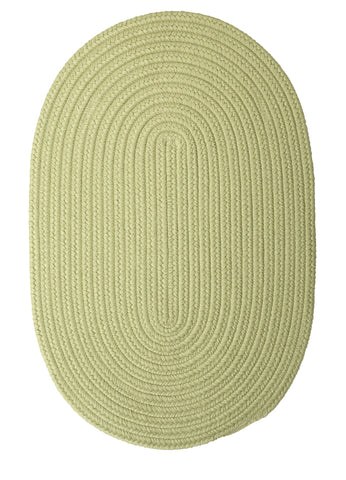 Boca Raton Indoor Outdoor Oval Braided Rug, BR66 Celery Green
