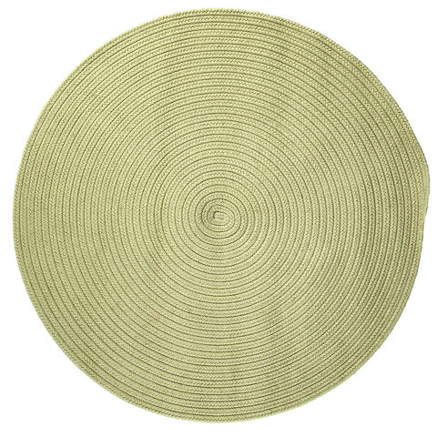 Boca Raton Indoor Outdoor Round Braided Rug, BR66 Celery Green