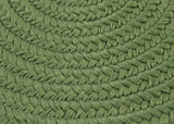 Boca Raton Indoor Outdoor Round Braided Rug, BR69 Moss Green