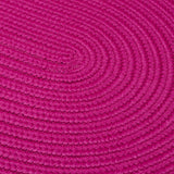 Boca Raton Indoor Outdoor Oval Braided Rug, BR70 Magenta