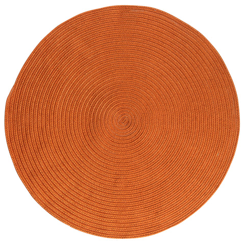 Boca Raton Indoor Outdoor Round Braided Rug, BR74 Rust