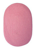 Boca Raton Indoor Outdoor Oval Braided Rug, BR76 Camerum Pink