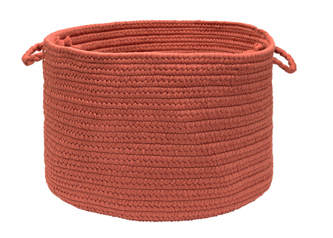Boca Raton Indoor Outdoor Round Braided Basket, BR78 Terracotta