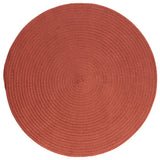 Boca Raton Indoor Outdoor Round Braided Rug, BR78 Terracotta