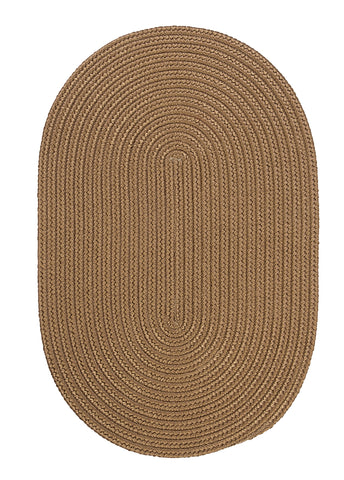 Boca Raton Indoor Outdoor Oval Braided Rug, BR83 Cashew