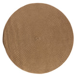 Boca Raton Indoor Outdoor Round Braided Rug, BR83 Cashew