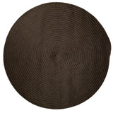 Boca Raton Indoor Outdoor Round Braided Rug, BR84 Mink