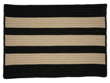 Boat House Indoor Outdoor Braided Rectangle Rug, BT19 Tan & Black