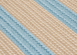 Boat House Indoor Outdoor Braided Rectangle Rug, BT49 Tan & Light Blue