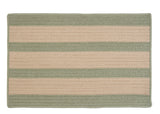 Boat House Indoor Outdoor Braided Rectangle Rug, BT69 Tan & Olive Green